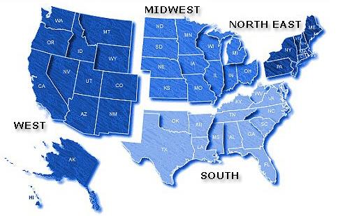 regional map usa