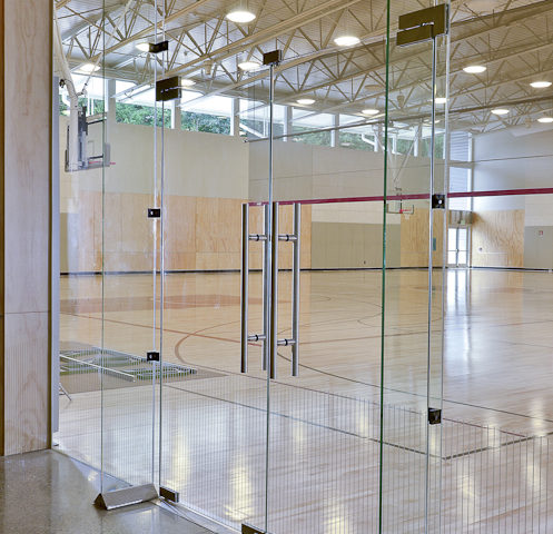 Gymnasium Glass Wall Systems