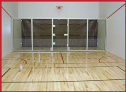 Construction, installation and building of racquetball courts for homes, gyms, sports centers and athletic clubs