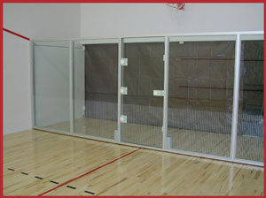 builders of movable glass walls for racquetball court construction
