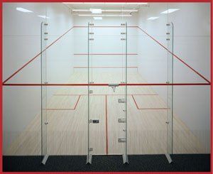 racquetball courts and squash court movable glass wall products