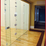 movable glass walls for courts