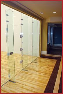 Custom build and installation of squash and handball courts